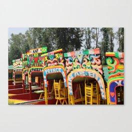 Xochimilco: Trajinera Ride Canvas Print