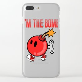 """A Bombing Tee For Bombers Saying """"I'm The Bomb"""" T-shirt Design Explosive Device Timer Ticker Blast Clear iPhone Case"""