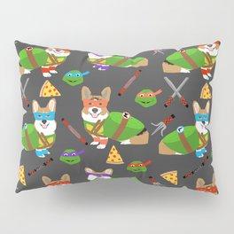 Teenage Mutant Corgis - pizza, cosplay, corgi, dog, dogs, costume, halloween, c omic, cartoon Pillow Sham
