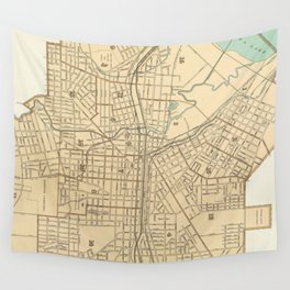 Vintage Map of Syracuse New York (1895) Wall Tapestry