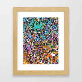 Floral tribute [galaxy] Framed Art Print