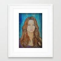 jennifer lawrence Framed Art Prints featuring Jennifer Lawrence by Jenn