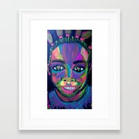 asia Framed Art Prints featuring Asia by Sara Taxén