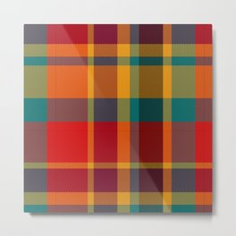 Summer Plaid 2 Metal Print