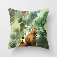 street fighter Throw Pillows featuring Street Fighter by jaimito