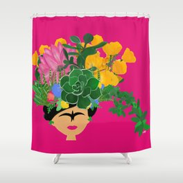 Keep Blooming Friducha Shower Curtain