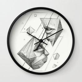 Surreal Geometry Shapes Wall Clock