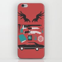 supernatural iPhone & iPod Skins featuring Supernatural by Abbie Imagine