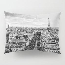 Black & White Paris Skyline Pillow Sham