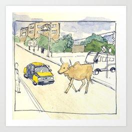 dakar cow Art Print