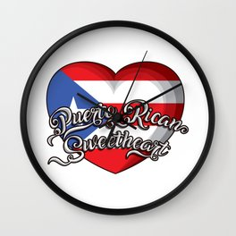 Puerto Rican Sweetheart - Puerto Rico Heart Wall Clock