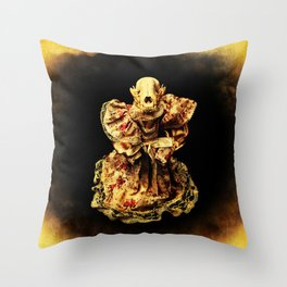 Horror In a Dress! Skull Doll Halloween Part 3 Throw Pillow