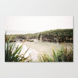 Punakaiki beach New Zealand | Southern island travel photography print Canvas Print