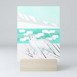 Arctic Fox - Cold but beautiful Mini Art Print