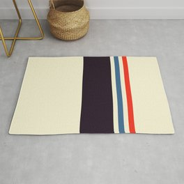 Classic Minimal Racing Car Retro Stripes - Furaribi Rug