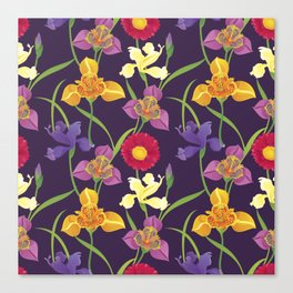 Elegant Floral Pattern Canvas Print