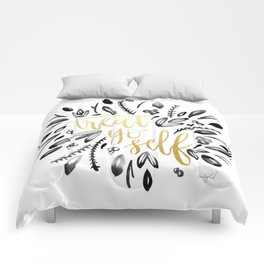 Treat Yo Self Gold Comforters