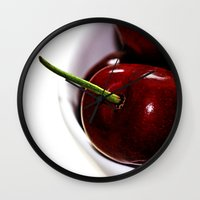 cherry Wall Clocks featuring Cherry by LoRo  Art & Pictures