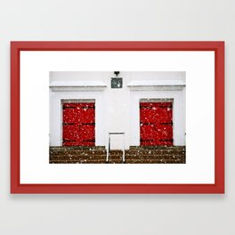 2 doors Framed Art Print