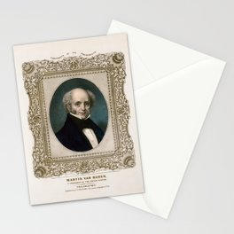 President Martin Van Buren - Vintage Color Portrait Stationery Cards