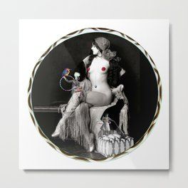 Virginia Biddle Thinks About Hooping Metal Print