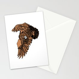 Approaching Owl Stationery Cards
