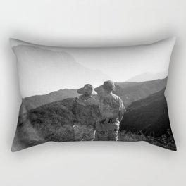 """Love on the Horizon"" Holga black and white double exposure Rectangular Pillow"