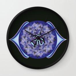 Third Eye Chakra on black Wall Clock