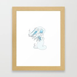 Winter Ghost Dragon Baby Framed Art Print