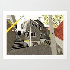 Alley stairs, Nagasaki Art Print