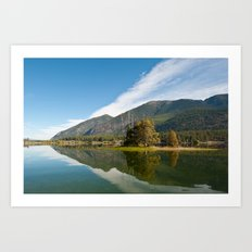 Peaceful Lake Art Print