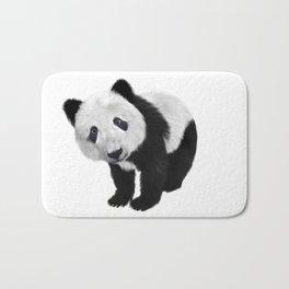 Black and white panda bear illustration Bath Mat