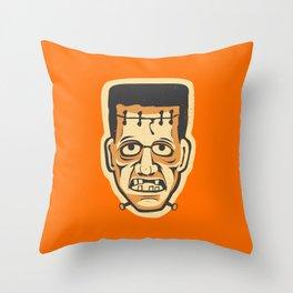 Vintage Halloween Frankenstein Monster Throw Pillow