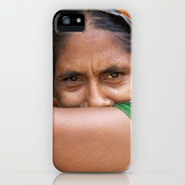 Colors of hidden smile iPhone Case