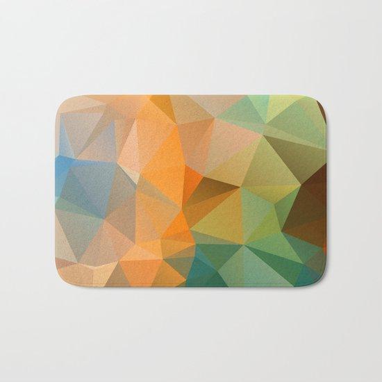 Colored polygon pattern. Bath Mat
