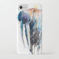 walrus iPhone & iPod Cases featuring Walrus by Slaveika Aladjova