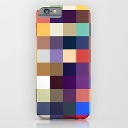 Kelpie - Multicolor Pixel Pattern iPhone Case
