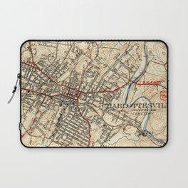 Vintage Map of Charlottesville Virginia (1949) Laptop Sleeve