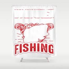 fishing rod tackle poles equipment call gear cast line tee Shower Curtain