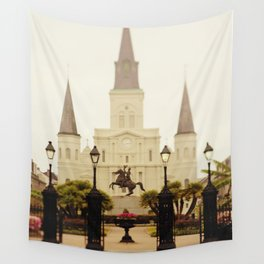 New Orleans Looking Through Jackson Square Wall Tapestry