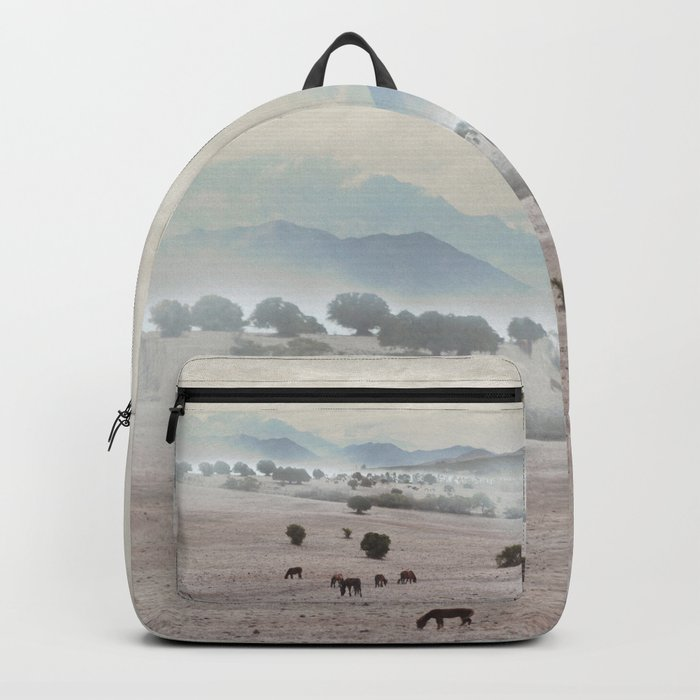Landscape & Horses II Backpack