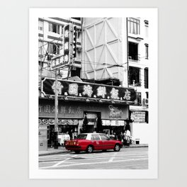 Hong Kong Taxi Art Print