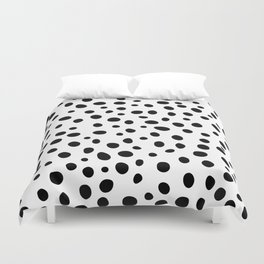 Dots Black and White Duvet Cover