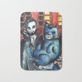 vampire and dog Bath Mat