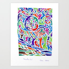 Therefore Go! Art Print