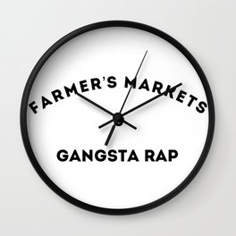 Farmer's Markets & Gangsta Rap Wall Clock