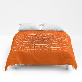 Fun With Colour & Words - Orange Comforters