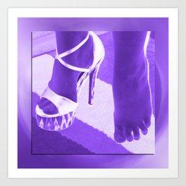 Cinders lost her shoe Art Print