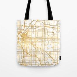 DENVER COLORADO CITY STREET MAP ART Tote Bag