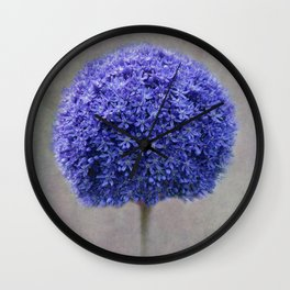 bue allium Wall Clock